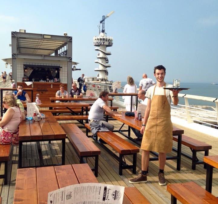 Werken op de Pier