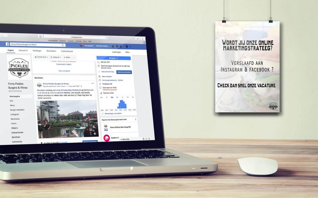 Vacature Online Marketingstrateeg